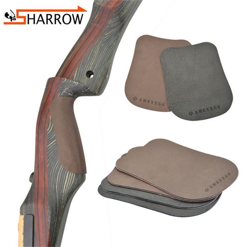 1pc Shooting Accessories Recurve Bow Riser Leather Grip Mat Bow Handle Non-slip Mat Traditional Bow Hunting Protective Gear