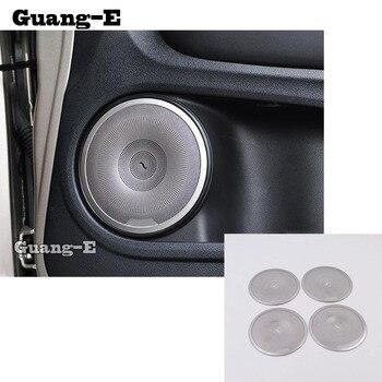 Car Styling stainless steel Inside Door Audio Speak Speaker Sound Ring lamp trim 4pcs For Honda HRV HR-V Vezel 2019 2020