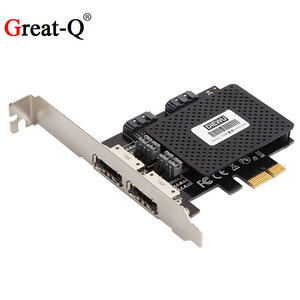 Pcie Pci Express Naar Dual Sata 3.0 & Dual Esata Converter Riser Card Adapter Met ASM1061 Chipest Pci-E Adaptator