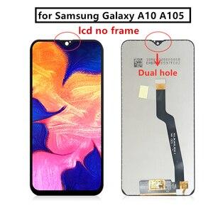 Image 4 - لسامسونج غالاكسي A10 Lcd 2019 A105 A105F SM A105F شاشة تعمل باللمس محول الأرقام مع الإطار لسامسونج a10 شاشة إصلاح جزء