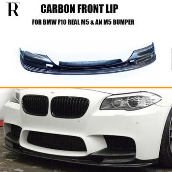 M5 Carbon Fiber Front Bumper Chin Lip Protector for BMW F10 Real M5 & 520 528 535 550 change to Taiwan AN M5 Bumper 10 - 16