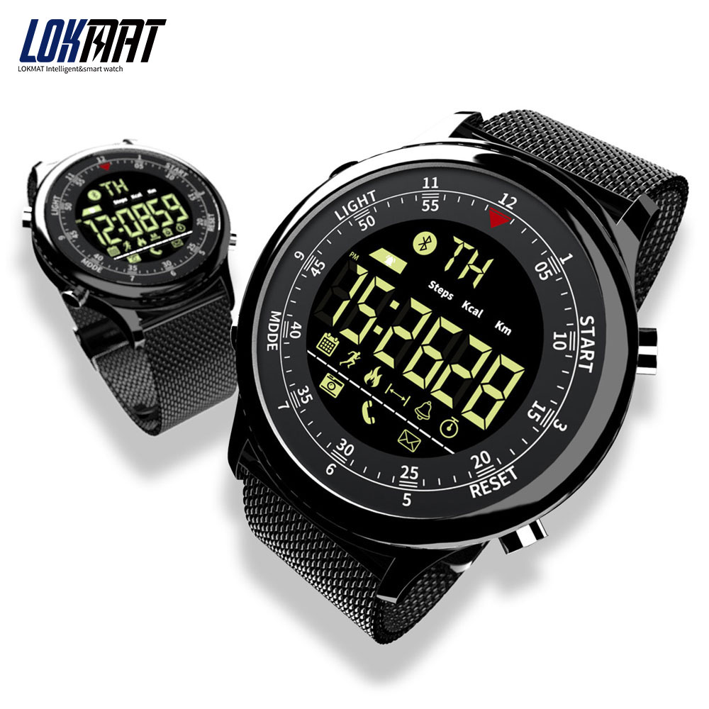 LOKMAT Bluetooth <font><b>Smart</b></font> <font><b>Watch</b></font> Waterproof Sport Men Digital Clock Ultra-long Standby Call Reminder Smartwatch For Ios And Android image