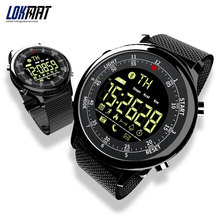 LOKMAT Bluetooth inteligentny zegarek wodoodporny Sport mężczyźni cyfrowy zegar bardzo długi czas czuwania przypomnienie połączeń smartwatch dla ios i androida