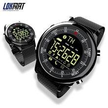 LOKMAT Bluetooth חכם שעון עמיד למים ספורט גברים דיגיטלי שעון במיוחד ארוך המתנה שיחת תזכורת Smartwatch עבור Ios ו android