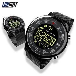 Image 1 - LOKMAT Bluetooth חכם שעון עמיד למים ספורט גברים דיגיטלי שעון במיוחד ארוך המתנה שיחת תזכורת Smartwatch עבור Ios ו android
