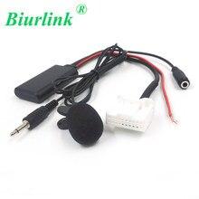 Автомобильный радиоприемник Biurlink, 20 штырьков, AUX вход 3,5 мм, аудио, Bluetooth, Кабель-адаптер микрофона для Toyota Camry Corolla Tacoma 4Runner RAV4