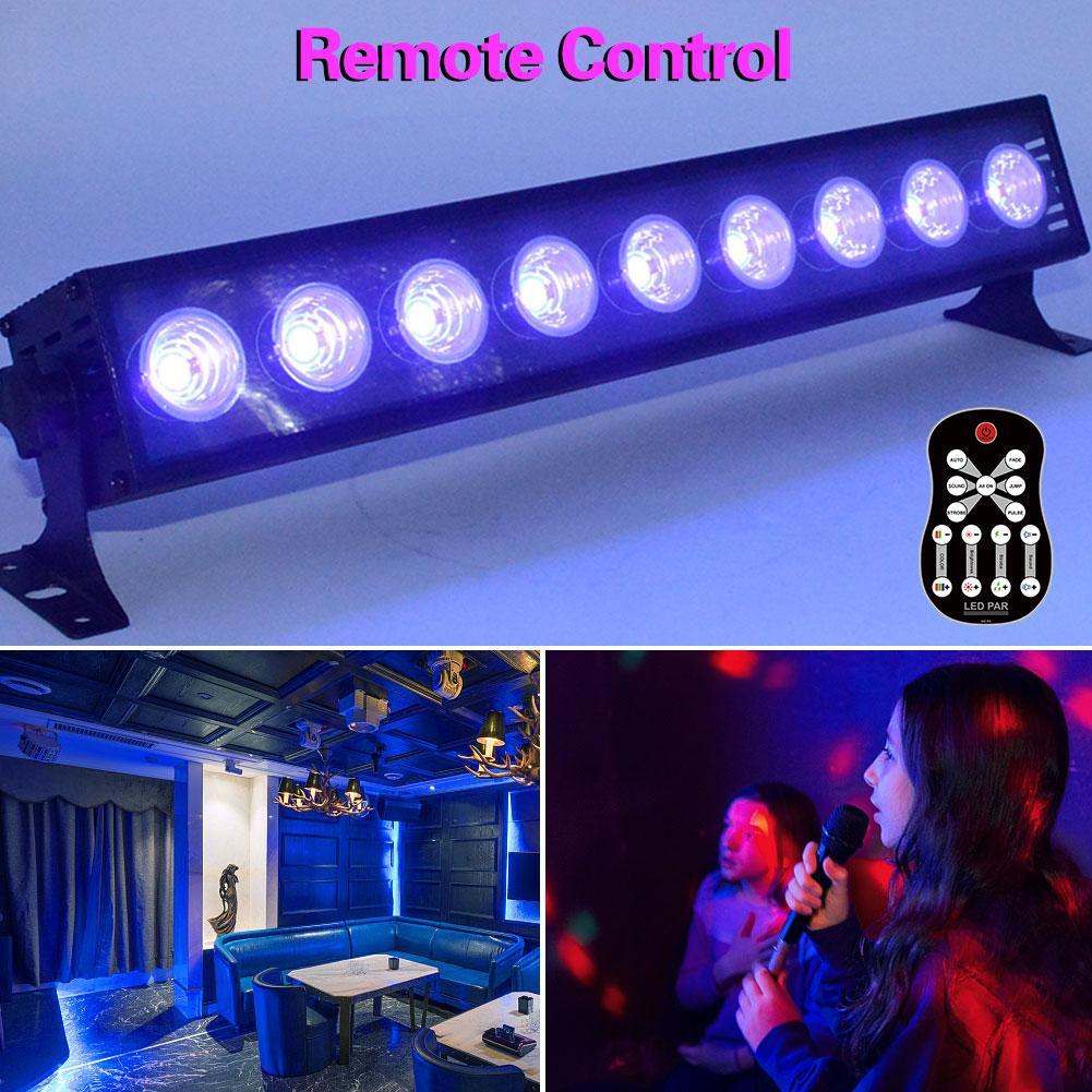 УФ 9 Светодиодный светильник бар фиолетовый пульт дистанционного управления сценическая лампа для украшения рождественской вечеринки