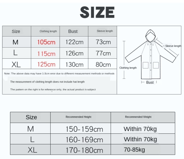 Black Plastic Women Raincoat Zipper Women Long Body Rain Coat Transparent Rainwear Rain Poncho Plastic Suit Capa De Chuva Gift 4