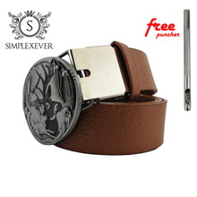 Luxury Brand Animal Style Metal Deer Belt Buckle Cowboy Jeans Accessories Cool Cowboy's Silver Buckles with