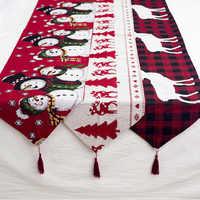 Feliz Natal Decorações para Casa Algodão Caminhos De Mesa De Natal Enfeites de Natal Noel Navidad Ano Novo 2020 Decoração