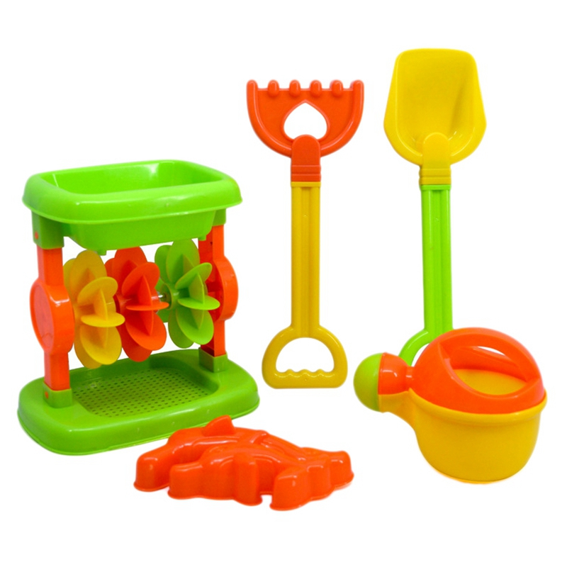 Hourglass Beach Toys 5 Piece Set Children's Parents Play Sand Water Toys