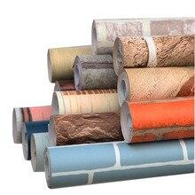 비닐 자기 접착제 벽지 벽돌 PVC 벽 스티커 방수 벽돌 벽 종이 거실 부엌 욕실 침실 장식