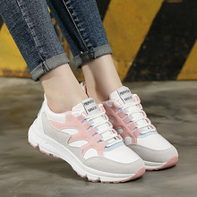 Women Comfortable Sneaker Shoes Pink Chunky Sneakers Platform Wedge Wedges Shoes for Women Zapatos De Mujer Casual Shoes 8 cm heels white women platform sneakers casual wedges shoes for women white shoes woman plataforma sneaker zapatos de mujer