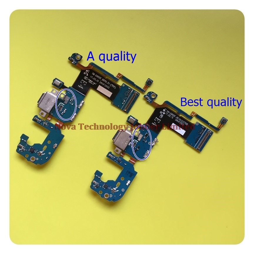 Wyieno For Samsung S8 Plus G955f Charger Port Board USB Charging Connector Flex Cable Microphone Mic Plug Parts + Tracking