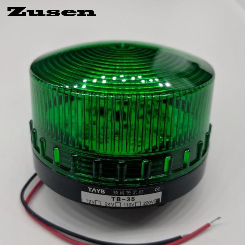 Zusen TB35 220 в зеленый, красный, желтый светодиодный сигнал безопасности, стробоскоп Предупреждение светильник светодиодный, маленькая лампа