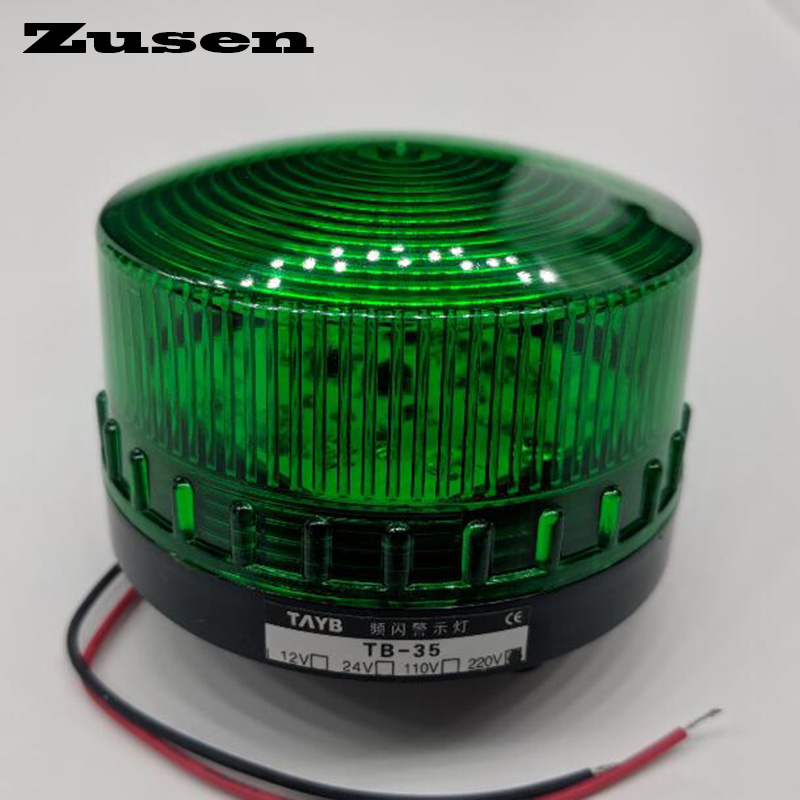 Zusen TB35 220V Green Red Yellow Led Security Alarm Strobe Signal Warning Light LED Lamp Small