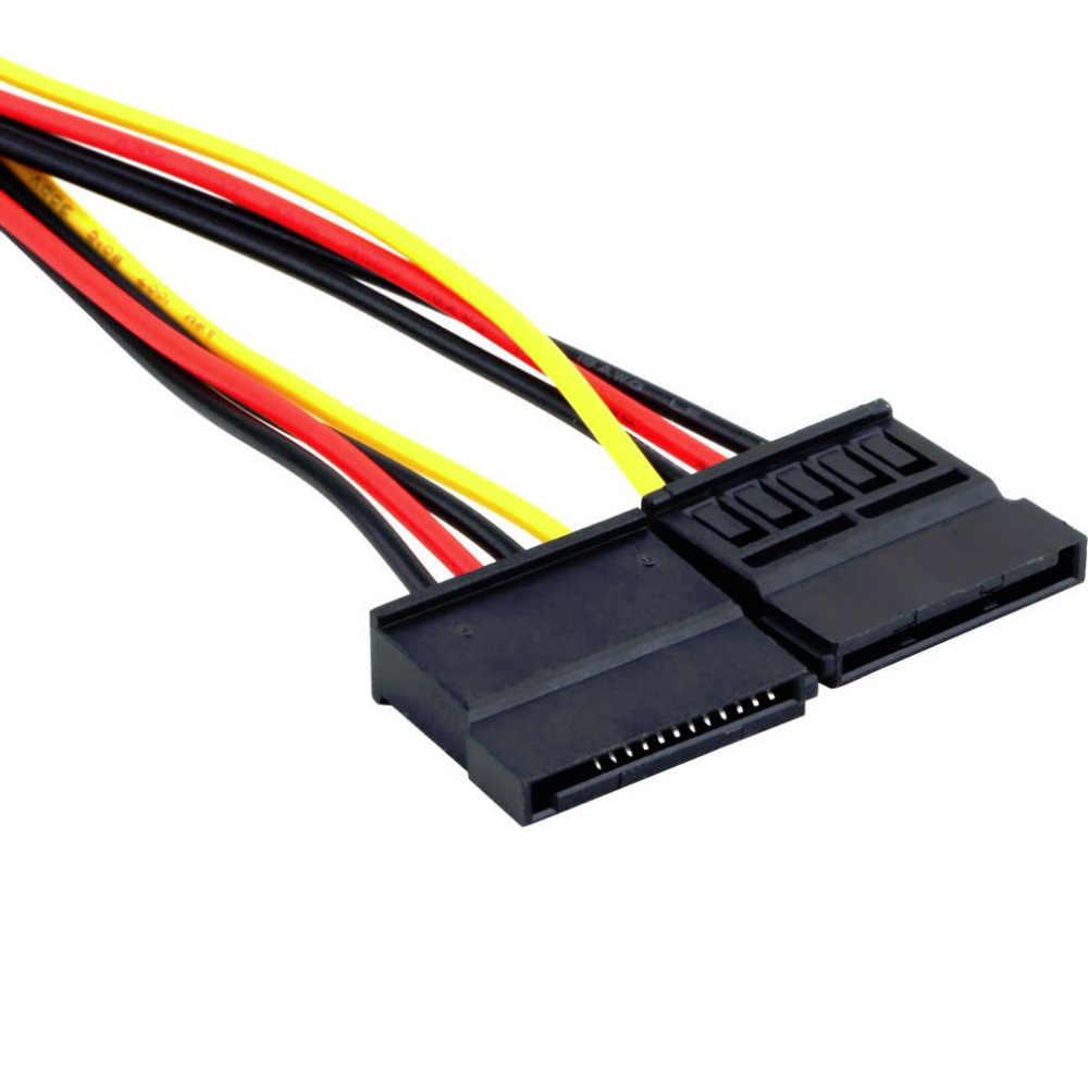 4Pin Ide Molex Naar 15Pin Serial Ata Sata Power Adapter Kabel Y Splitter Hard Drive Voeding Kabel Hot Wereldwijd