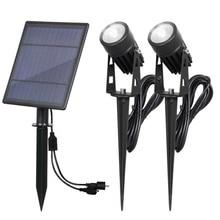 Solar Spotlight Waterproof IP65 Solar Powered LED Landscape Solar Lawn Lights Outdoor/Garden/Courtyard/Lawn/Backyard Lamps