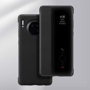 Image 4 - Чехол для смартфона Huawei, прозрачный зеркальный флип чехол для Huawei Mate30 Mate 30 Pro, умный чехол для телефона с функцией сна