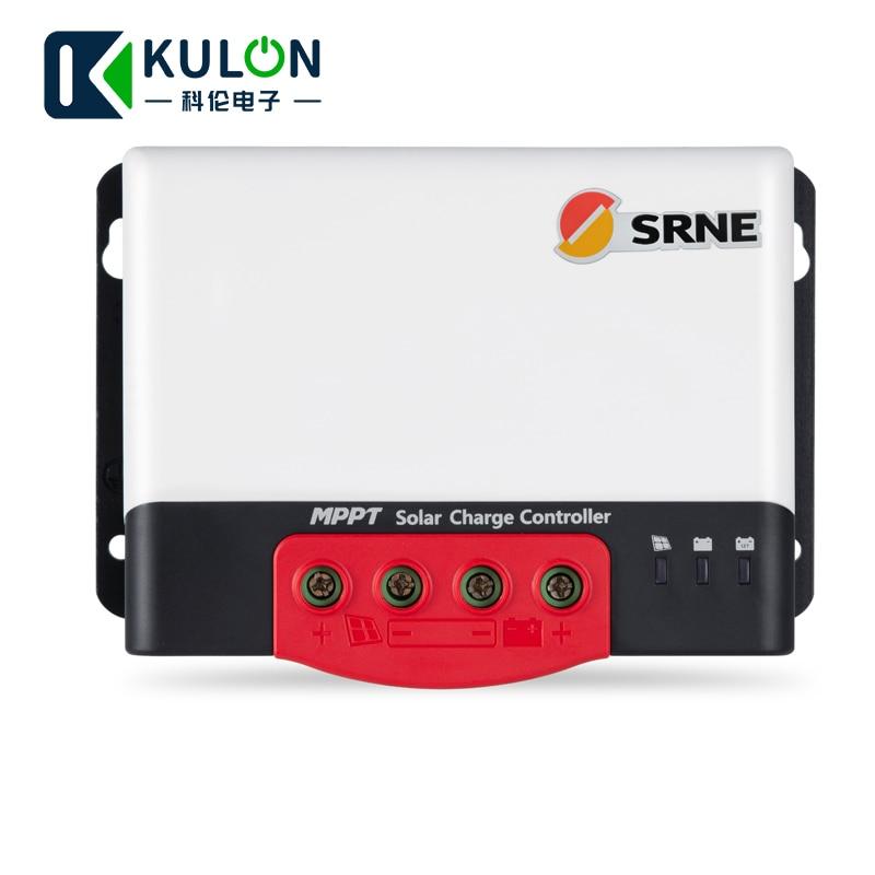 Image 2 - SRNE MC2420N10 20A 12v 24v make sky blue MPPT Solar Charge Controller for 18650 lithium batteries solar regulator-in Solar Controllers from Home Improvement