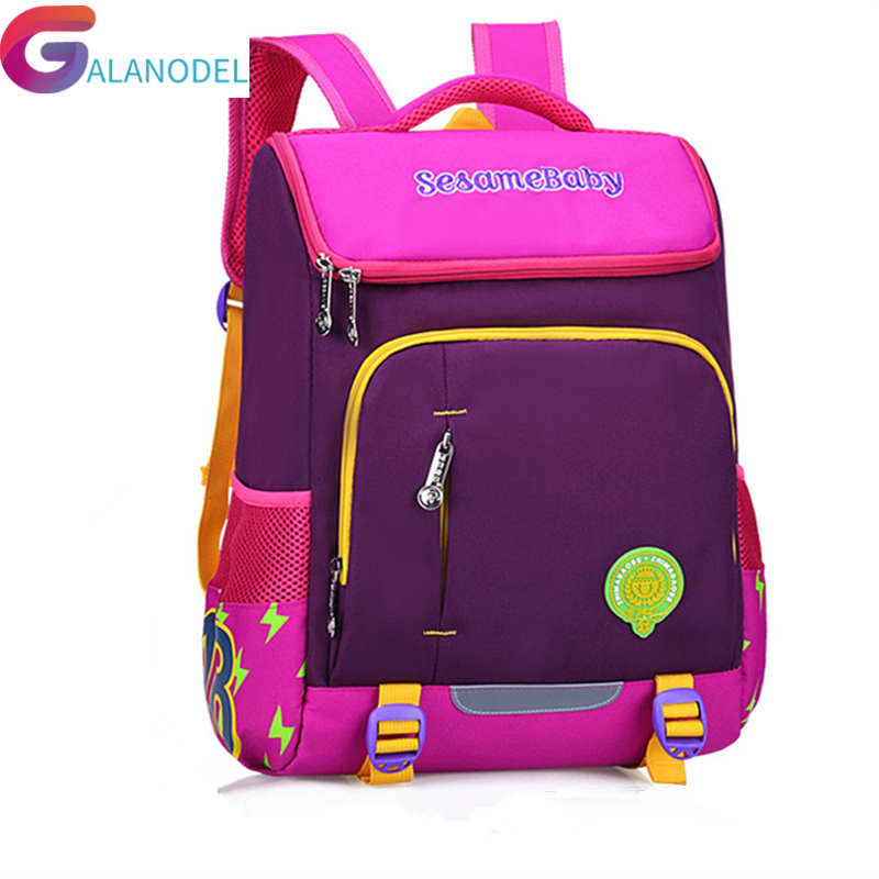 School KIDS Orthopedic Lovely Bags For Boys Girls Stitching Cute Children Backpacks Lightweight Waterproof School Backpack