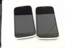Original For HTC Desire V T328W Screen Assembly with Frame White LCD Display Free shipping