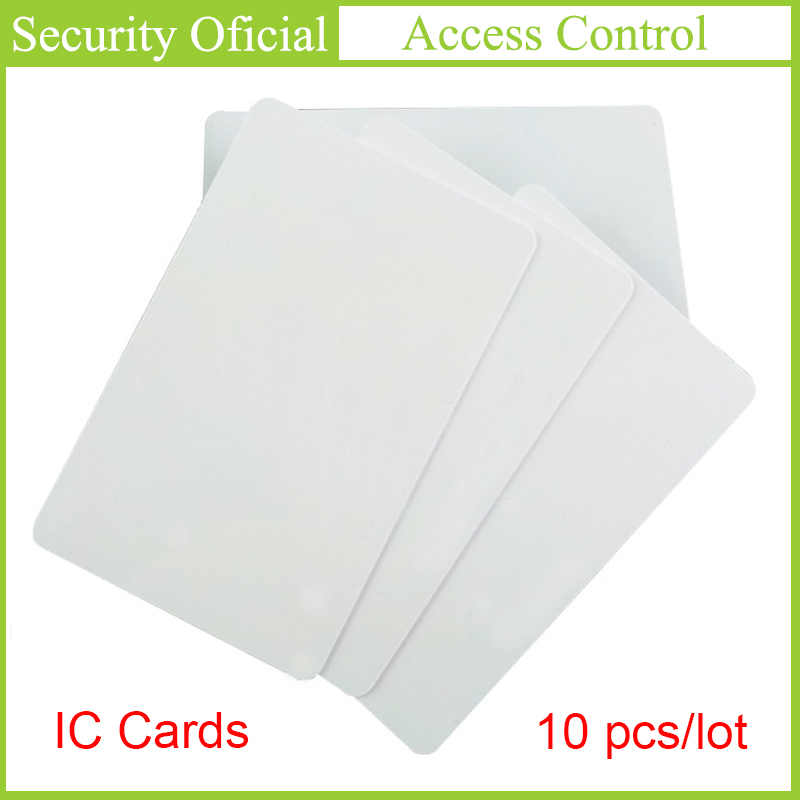 Access Control Key Cards 10PCS RFID Tag 13.56MHZ Contactless High Frequency Jetons IC Cards White PVC Access Attendance NFC Card