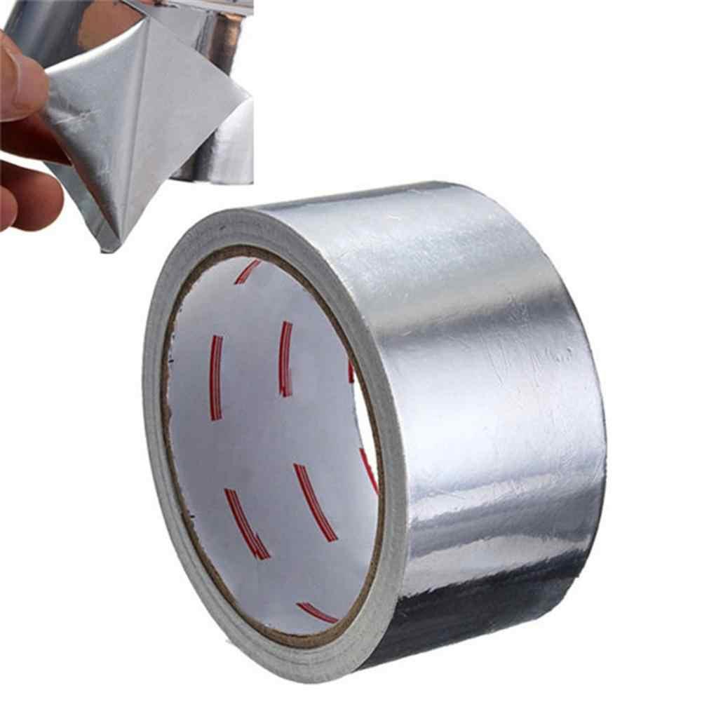 1 لفة 5 سنتيمتر * 17 متر لاصق شريط عزل مقاومة للحرارة الأنابيب إصلاح ارتفاع درجة الحرارة مقاومة الألومنيوم احباط لاصق