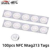 100 шт NFC тег стикер 13,56 МГц 213 универсальная Метка RFID тег ключевые метки Сверхлегкий маркер патруль