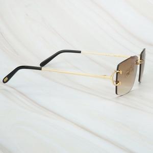 Image 4 - Gafas De Sol sin montura para hombre y mujer, lentes De Sol De lujo, Marco Carter para conducir, cuadradas, accesorios De diseñador