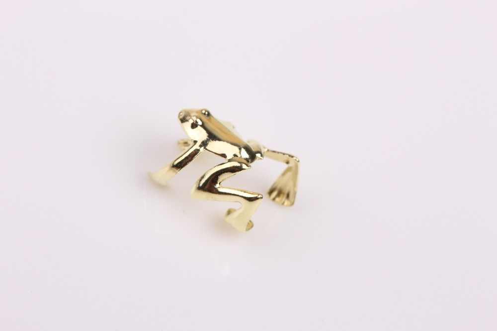1 piezas nuevo Punk oro tono de Color plata Rana brazalete Clip de oreja de pendiente de joyería fina, 2 colores, envío de la gota