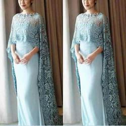 Винтажное платье для матери невесты с кружевным плащом vestido de noiva, торжественное пышное свадебное платье для гостей на свадьбе, платья 2019