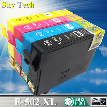 Compatible Ink Cartridges For 502XL E-502XL T502 , For Epson Expression Home XP-5100 XP-5105 / WorkForce WF-2860DWF WF-2865DWF compatible ink cartridges suit for t1271 t1272 t1273 t1274 suit for epson nx530 nx625 wf 60 545 630 633 wf 3520 wf 3540 etc