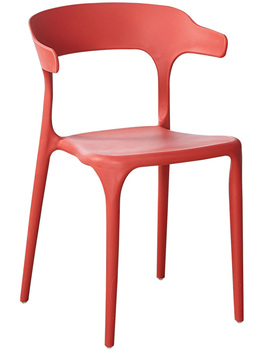 Plastic chair backrest modern minimalist creative home leisure nordic coffee shop tea shop chairs horn dining chair