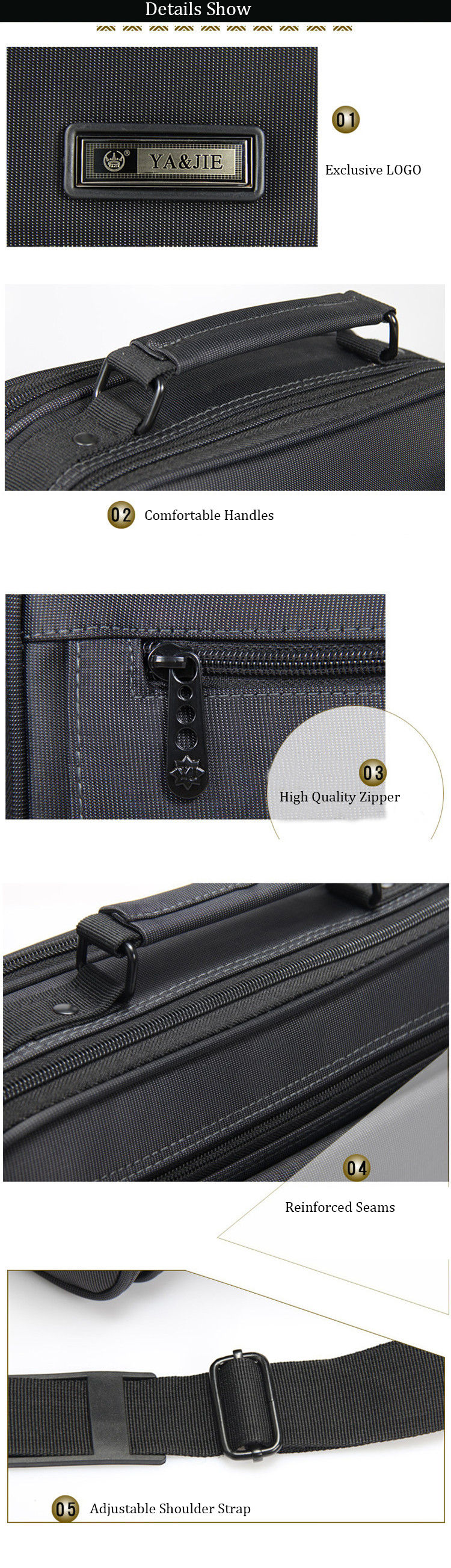 Hc81565b751c34c84b2400031c2a29428U - New Briefcases Of Sizes Men's Laptop Bag Top Quality Waterproof Men bags Business Package Shoulder Bag masculina briefcase
