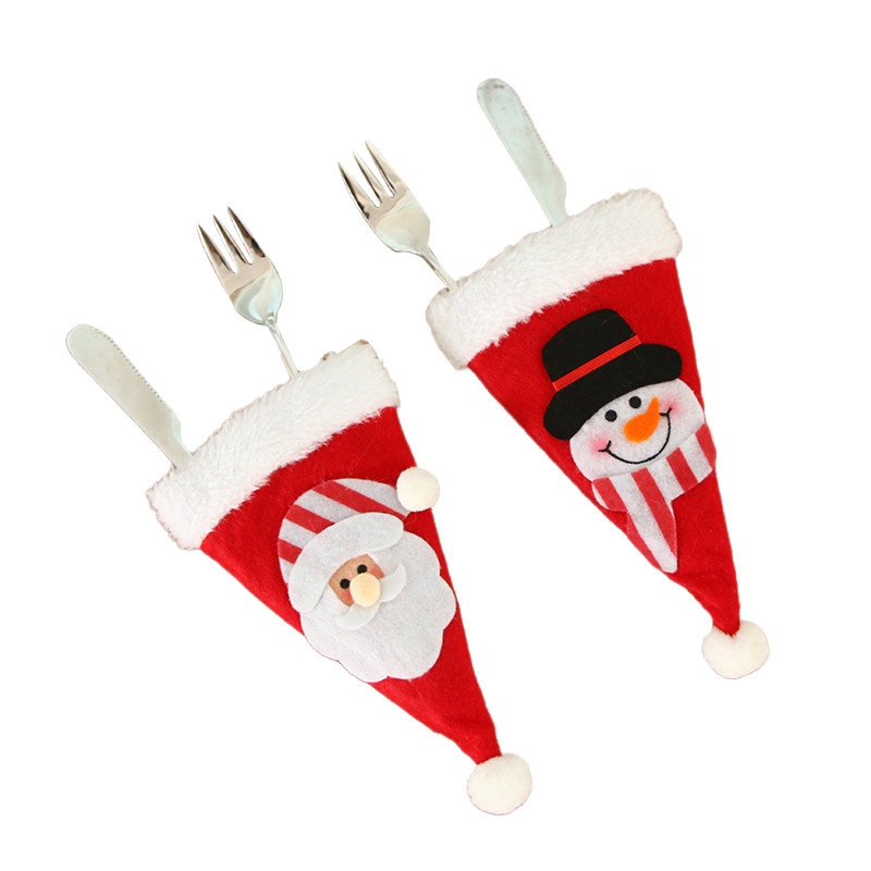 2020 Christmas Decorations Christmas Small Hat Knife and Fork Set Bag Christmas Table Layout Supplies Dropshipping