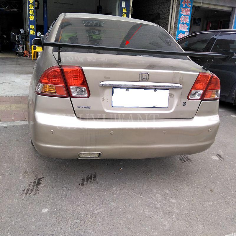 cciyu Black ABS Rear Roof Spoiler Wing for 1997 1998 1999 2000 2001 for Honda CR-V Stylish Trunk Spoiler Wing Brake Light