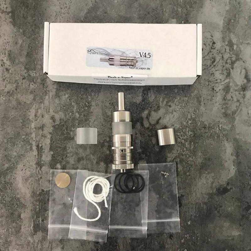 YFTK Flash E Vapor V4.5 RTA  V4.5S+23mm 316SS RTA Rebuildable Tank Atomizer For Electronic Cigarette Vaporizer Vape Mod