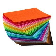 1MM 40 sztuk/zestaw DIY Handmade filc z włókniny tkaniny poliestrowej robótki igły do szycia czuł tkaniny zabawki wykonane ręcznie lalki tkaniny 15*10cm