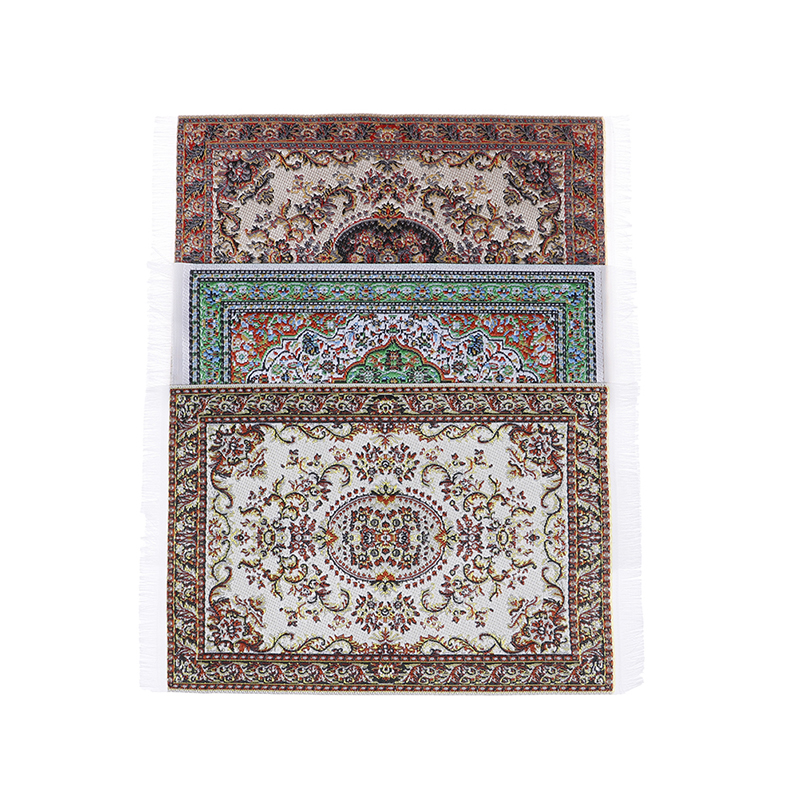 New Turkish Style Area Rug/Carpet/Mat Floor Coverings For Dolls House Any Rooms Furniture Decoration 1/12  Dollhouse Miniature