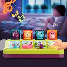 Musica leggera memoria formazione forma Pop Up interattiva animali giocattolo bambini apprendimento del bambino sviluppo giocattoli gioco