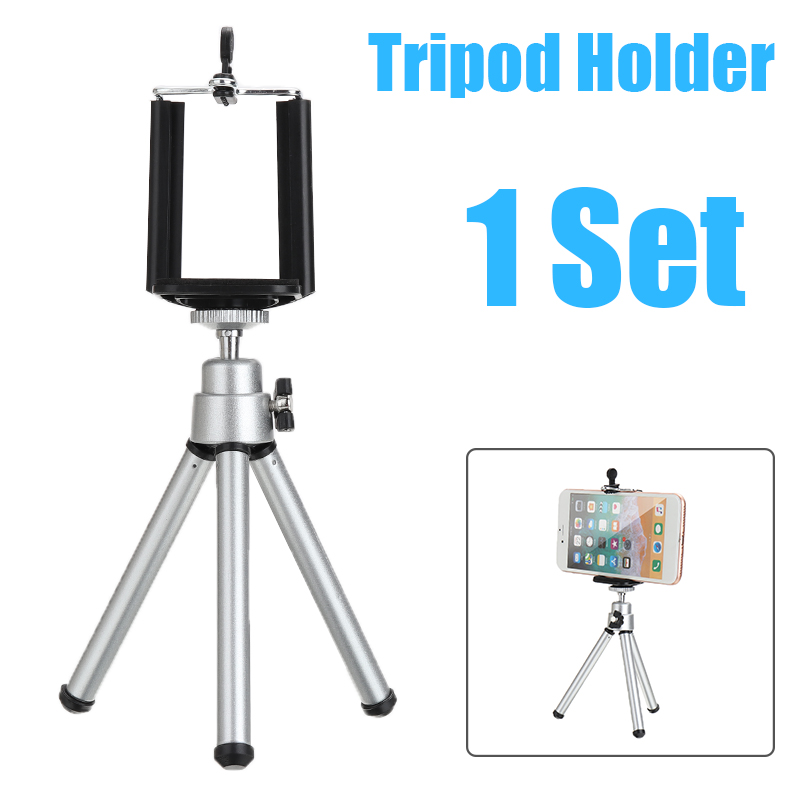 Professional Phone Holder Clip With Aluminum Tripod Mount 360 Degree Rotatable Stand For Iphone Samsung Mobile Cell Phone