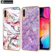 Clear Soft TPU Cover Luxury marble rose gold marble for Samsung Galaxy A70 A90 A80 A60 A50 A40 A30S A20E A20S A10 Phone Case(China)