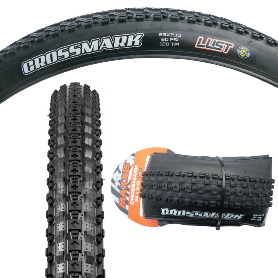 "2PCS Tyres Maxxis Crossmark Bike Tyres 26 x 2.25/""Black Mountain Bike Tire 65PSI"