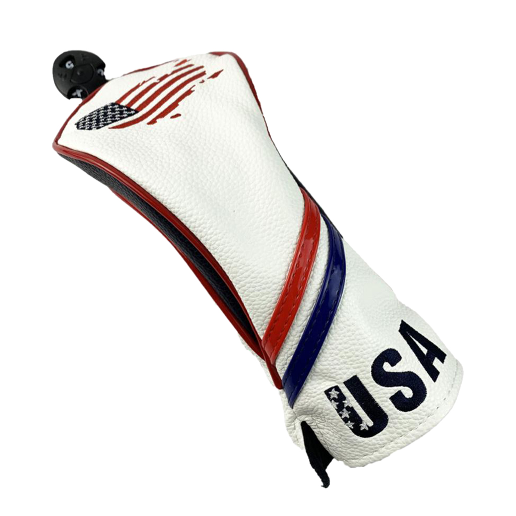 Deluxe PU Leather Golf Headcover - Mallet Putter Head Cover - With Male And Female A Nice Gift