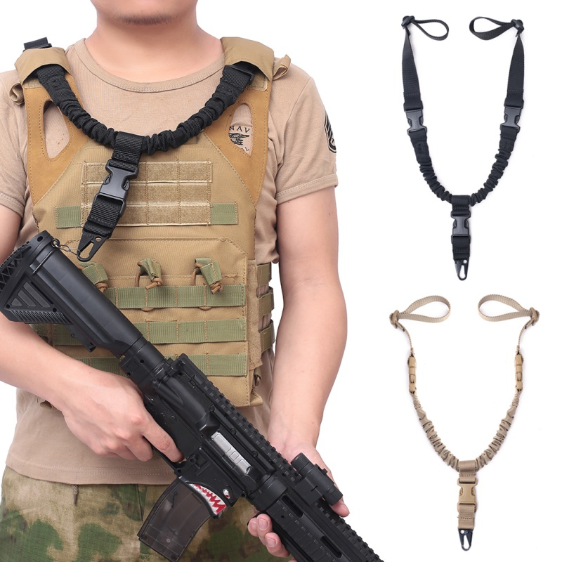 Adjustable Military Tactical Gun Sling Single Point Quick Release Bungee Rifle Shoulder Belt Hunting Starp For Airsoft M4 AR15