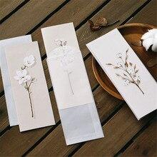 Envelopes Stationery Card-Paper Letter Greeting-Card Flower Handmade Fresh Sweet 6pcs/Pack