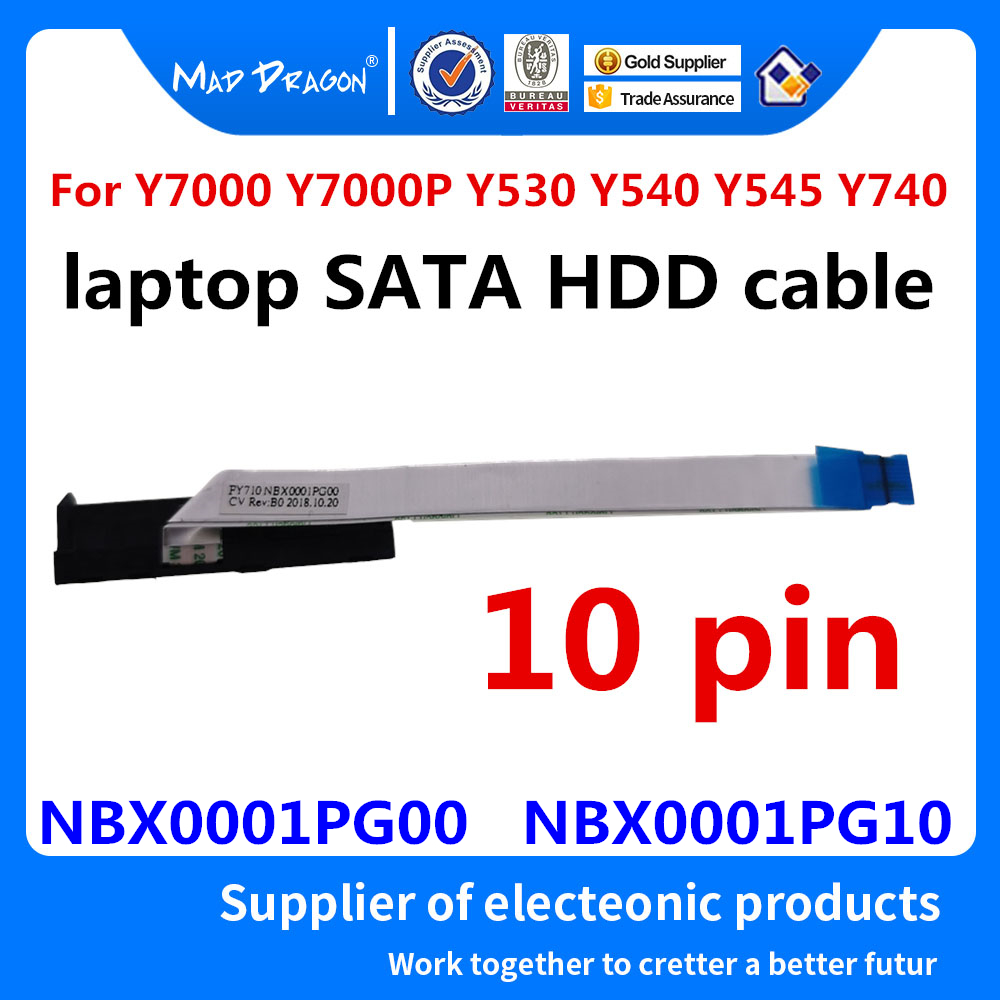New originall laptop SATA SSD HDD cable Hard Drive Cable For Lenovo Y7000 Y7000P Y530 Y540 Y545 Y740 NBX0001PG00 NBX0001PG10