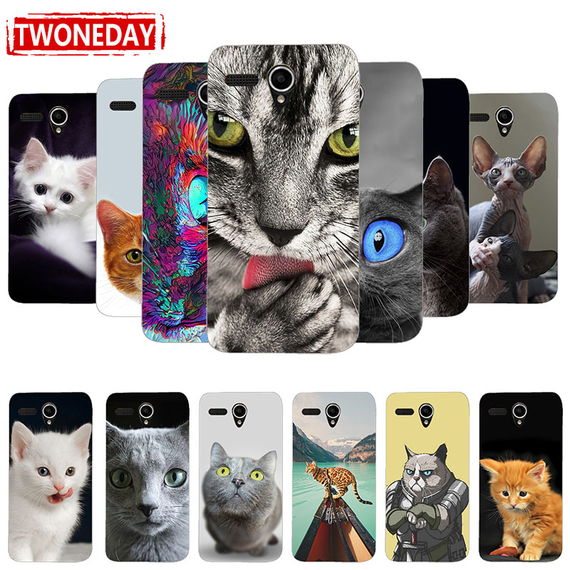 Soft silicone Fashion Cartoon Printing Cat Case Cover For <font><b>Lenovo</b></font> A6 Note S860 A606 A850 A859 A5 S650 S660 <font><b>S960</b></font> Case back cover image