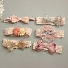Детская повязка для волос цветок девочки розовые Ленточные резинки для волос для маленьких девочек детские повязки тюрбан Новорожденные Детские аксессуары для волос 1 шт